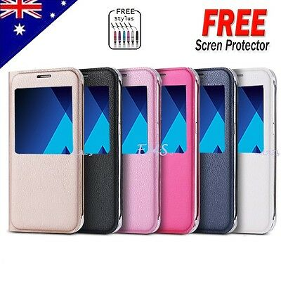 For Samsung Galaxy A5 2017 & A7 2017 New Smart S-view Flip Leather Case Cover