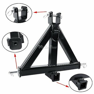 "NEW ! Attachments 3 Point Trailer Hitch 2"" Receiver Drawbar Category 1 Tractor"