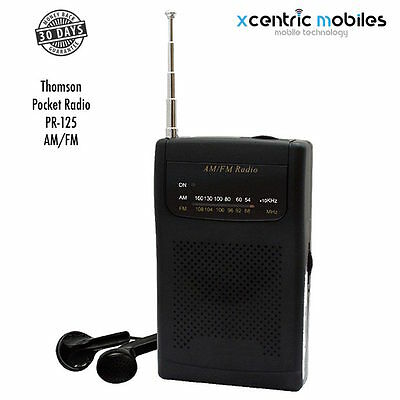 POCKET RADIO AM FM Portable Radio - with BELT CLIP - BRAND NEW - Express Post
