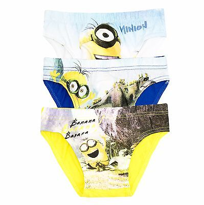 Minions Movie 3-PACK Cotton Boys Briefs Knickers Underwear Boxers 2-8 Years