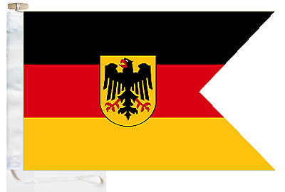 German Navy (Deutsche Marine) Ensign Courtesy Boat Flag Roped & Toggled