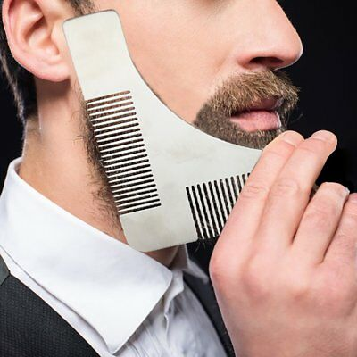 Beard Shaping Template Comb Styling Tool Trimming Line Facial Care UK