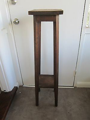 Antique Circa 1920's  Hardwood  2 Tier Pedestal Plinth