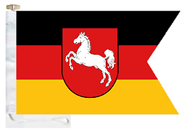 Germany Lower Saxony State Courtesy Boat Flag Roped & Toggled