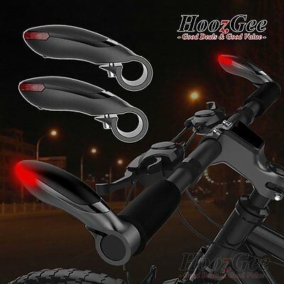 MTB Bike Bicycle Cycling LED Security Front HandleBar Lights Lamps Bar End Plugs