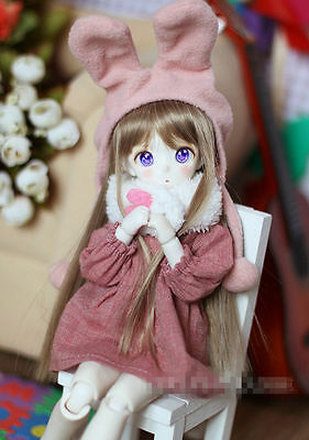 Cute Pink Rabbit Outfit Suit (4pcs) For BJD Doll 1/4 1/6 MSD  Doll Clothes CW76