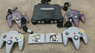 Nintendo 64 Console + 4 Controllers + Mario Kart N64 PAL EXTRAS