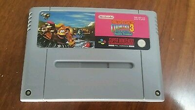 Donkey Kong Country 3 on SNES super nintendo GAME