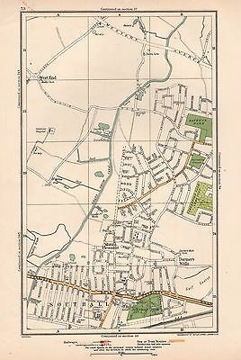 1933 London Map-Mount Pleasant,dormer's Wells,southall