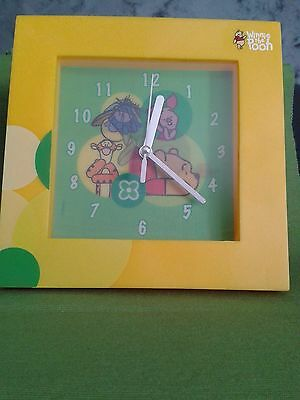 "Orologio da parete ""Winnie the Pooh"" Giallo Disney Originale Gadget Idea Regalo"