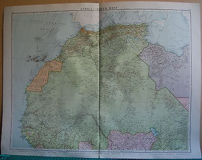 1919 Large Map- Africa, North West