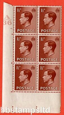 SG. 459. P3. 1½d Red-Brown. A superb UNMOUNTED MINT. Control  A36 cylinder 6.