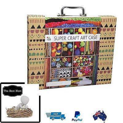 Super Craft Art Case Set Kids Project, Children Arts & Crafts Kit Child Learning
