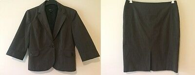 EIGHT By Table Eight Ladies Size 14 2-Piece Suit Skirt + Blazer Jacket
