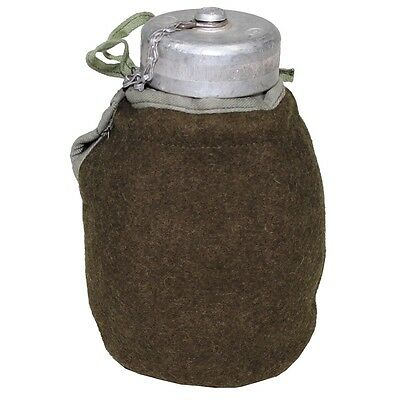 Polish WW2 Style Cold War Canteen with Felt Cover and Hooks. Not Soviet, Polish.