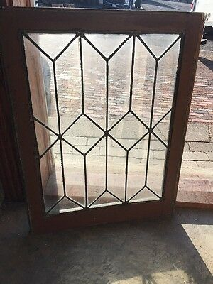 Sg 1391 Antique Leaded Glass Window 22.25 X 29