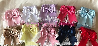 Lacey Spanish Romany Baby Girls Socks Double Bow Knee High With Lace