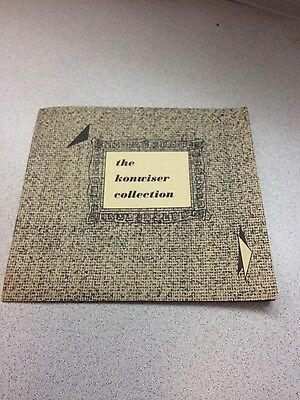 The Konwiser Fabric Collection Pamphlet Catalog Mid Century Modern Furniture