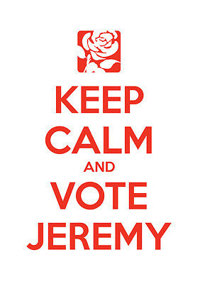 Keep Calm Vote Jeremy Corbyn, Labour, Election, Wall Art, Poster, All Sizes (1)