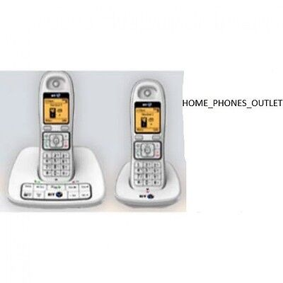 BT 7600 Cordless Telephone with Answer Machine - TWIN WHITE SET