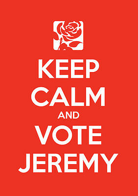Keep Calm Vote Jeremy Corbyn, Labour, Election, Wall Art, Poster, All Sizes (2)