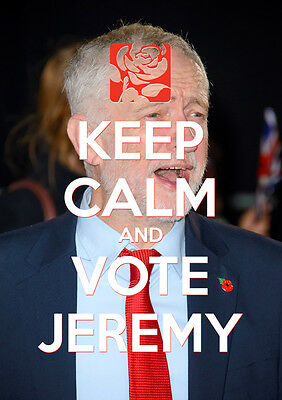 Keep Calm Vote Jeremy Corbyn, Labour, Election, Wall Art, Poster, All Sizes (4)