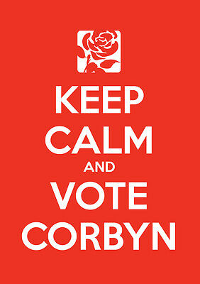 Keep Calm Vote Jeremy Corbyn, Labour, Election, Wall Art, Poster, All Sizes (6)