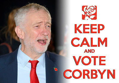Keep Calm Vote Jeremy Corbyn, Labour, Election, Wall Art, Poster, All Sizes (10)