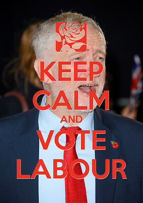 Keep Calm Vote Jeremy Corbyn, Labour, Election, Wall Art, Poster, All Sizes (18)
