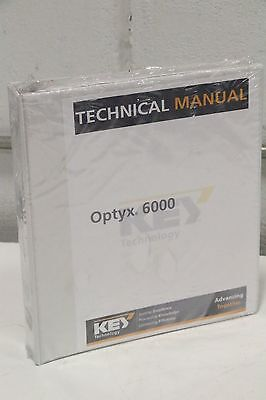 NEW Key Technology Optyx 6000 Technical Manual