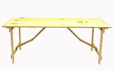 New Ply Wooden 6' x 2' Trestle table folds flat very strong