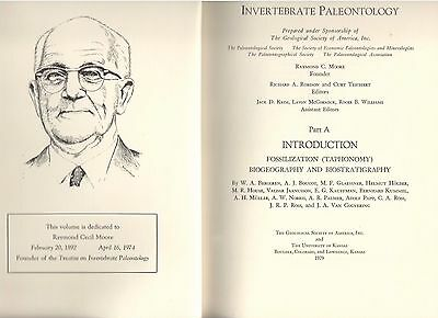 Treatise on Invertebate Paleontology,  Part A ed by R A  Robison & C Teichert