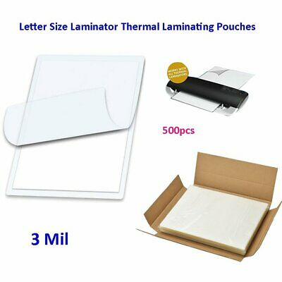 """3 Mil Laminator Thermal Laminating Pouches Letter Size 500 for 9"""" x 11.5"""" Sheets"""
