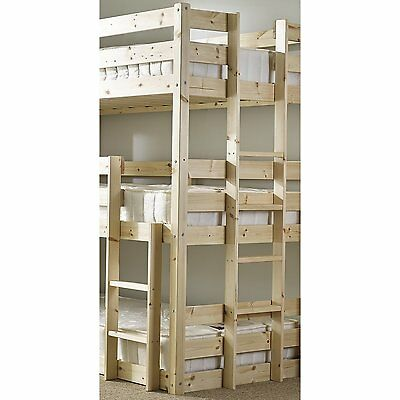 Derby 3 Tier Triple Sleeper Bunk Bed New Solid and Sturdy Pine Wooden Kids Bed