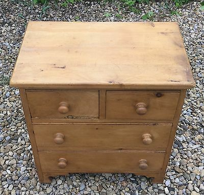 Antique Pine Small Chest Of Drawers