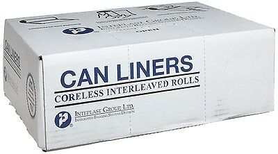 "Inteplast Group IBS S243308K HDPE Can Liner, 16 Gallon, 24"" x 33"", 0.31 Mil, 20"