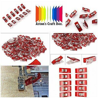 50 Wonder Clips For Fabric Quilting Craft Sewing Knitting Crochet UK Seller.