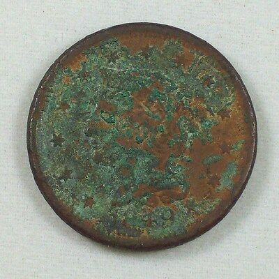 1849 Coronet Head Large Cent ~ US Coin ~ Verdigris~ 1 One