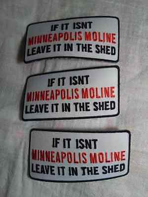 Minneapolis Moline  Leave It In The Shed Patches