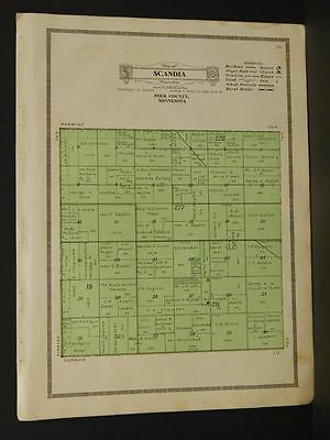 Minnesota Polk County Map Scandia Township 1915  W4#15
