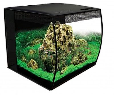 Fluval Flex 57 Liter LED Nano Aquarium schwarz mit Technick