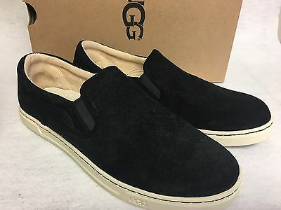 ff6d226d250 UGG AUSTRALIA FIERCE Suede Leather Slip On Sneakers Black Loafers 1006737  womens