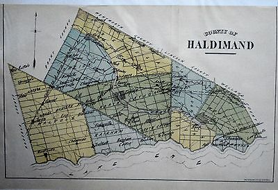Haldimand County Ontario Canada Rare 1881 orig map Ont Agricultural Commission