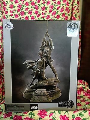 Disney Star Wars 40th Anniversary Statue Figure New Hope Luke and Leia LE 1250