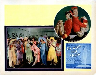 On With The Show! Upper Right Sally O'Neil William Bakewell 1929 Poster (14x11)