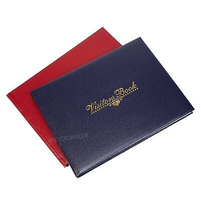 Faux Leather Visitors Book 128 Page Hotel Guest House Reception Record Log Pad