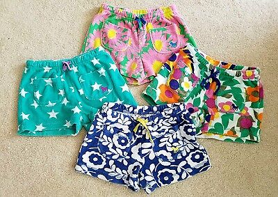 Mini Boden Lot of 4 of Girls Towelling Shorts size 5 EUC