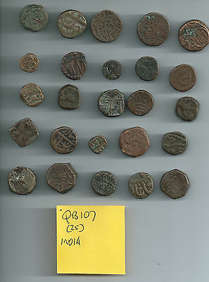Lot of 25 ancient indian coins? QB107India
