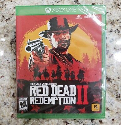RED DEAD REDEMPTION II 2 XBOX ONE Ultra HD 4K HDR - Sealed NEW