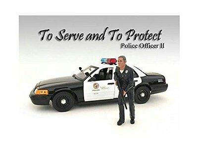 ANAA-24012-Police Officer II Figure For 1:18 Scale Models by American Diorama 2